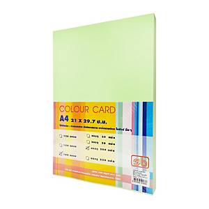 SB กระดาษการ์ดสี A4 180 แกรม เขียว 1 แพ็ค บรรจุ 200แผ่น