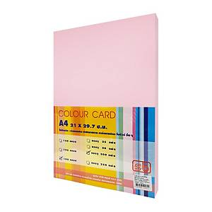 SB COLOURED CARDBOARD A4 180G - PINK - PACK OF 200 SHEETS