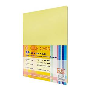 SB COLOURED CARDBOARD A4 180G - YELLOW - PACK OF 200 SHEETS