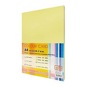 SB กระดาษการ์ดสี A4 180 แกรม เหลือง 1 แพ็ค บรรจุ 200แผ่น