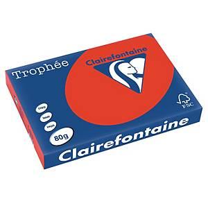 Kopierpapier Trophee 8375 A3, 80 g/m2, korallrot, Pack à 500 Blatt
