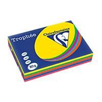 Farebný papier Clairefontaine, Trophée, A3, 80 g/m², intenzívny mix