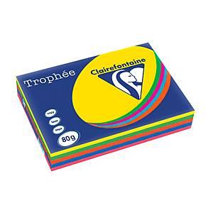Trophée farebný papier Clairefontaine, A3 80 g/m² -  intenzívny mix