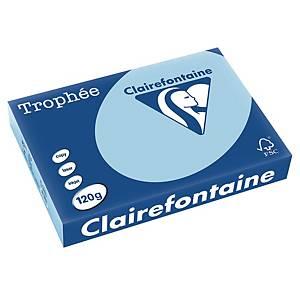 Papier pour photocopieur Trophée 1213 A4, 120 g/m2, bleu vif, 250feuilles