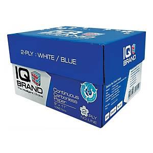 IQ กระดาษต่อเนื่องเคมี 2 ชั้น 9X11 นิ้ว 1 กล่อง 1000ชุด