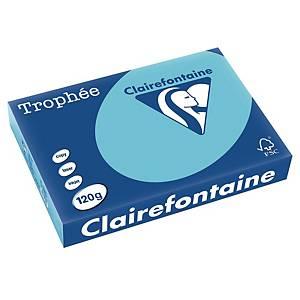 Papier pour photocopieur Trophée 1282 A4, 120 g/m2, bleu alizé, paq. 250flles.