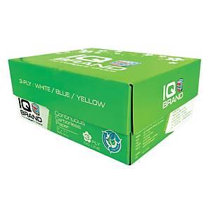 IQ กระดาษต่อเนื่องเคมี 3 ชั้น 9X11นิ้ว 1 กล่อง 500 ชุด