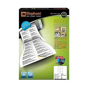 ELEPHANT 18-037 JET LASER LABEL 105MM X 74MM 8 LABELS/SHEET - PACK OF 100