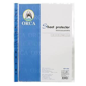 ORCA ซองเอกสาร A4 50 ไมครอน 11 รู แพ็ค 20 ซอง น้ำเงิน