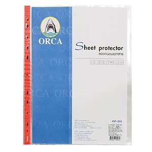 ORCA ซองเอกสาร A4 50 ไมครอน 11 รู แพ็ค 20 ซอง แดง