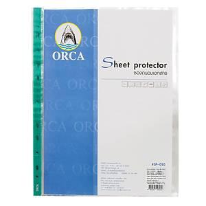 ORCA ซองเอกสาร A4 50 ไมครอน 11 รู แพ็ค 20 ซอง เขียว