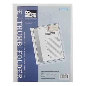 BINDERMAX ซองเอกสารแข็ง W-61 A4 11 รู ใส