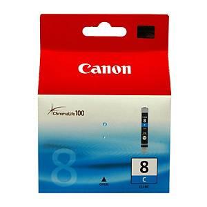 CANON tintasugaras nyomtató patron CLI-8 C (0621B001) ciánkék