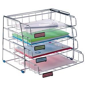 Set vaschette portacorrispondenza scorrevole lato lungo Alba metallo - conf. 4