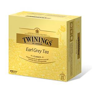 Tè Earl Grey Twinings in bustina - conf. 50