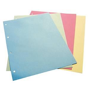 Divisori 4 fori Cartiera Varese 22,5 x 29,7 cm cartoncino azzurro - conf. 50