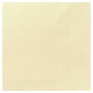Duni papieren servetten, 1-laags, 33 x 33 cm, crèmekleurig, per 500 servetten