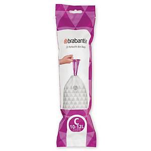 Affaldsposer Brabantia Smartfix model C, 12 L, rulle a 20 poser