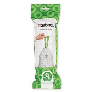 Affaldsposer Brabantia Smartfix model G, 30 L, rulle a 20 poser
