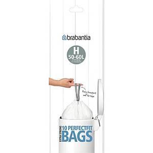 Affaldsposer Brabantia Smartfix model H, 50 L, rulle a 10 poser