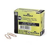 BX100 DURABLE 1208 PAP CLIPS COPPER 32MM
