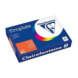 Papier Trophée 1761 A4, 80 g/m2, orange vif, paq. 500feuilles