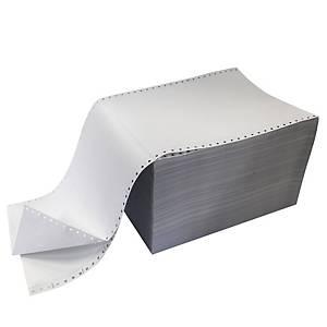Papier à listing vierge, 60 g, l 240 x H 305 mm, la boîte de 1.000 feuilles