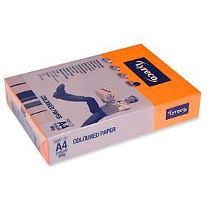 Kopierpapier Lyreco, A4, 80g, orange, 500 Blatt