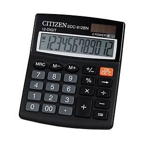 CITIZEN SDC812NR asztali számológép, fekete, 12 számjegy