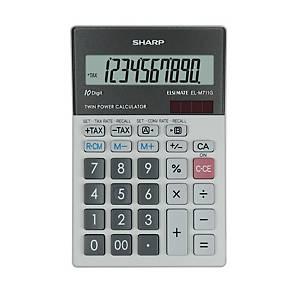 Sharp EL-M711G Tischrechner mit 10-stelligem Display