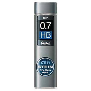 Pentel AIN Stein vullingen voor vulpotlood, HB, dikte 0,7 mm, per 40 stuks