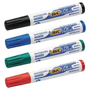 Bic® Velleda 1701 whiteboard marker, ronde punt, assorti kleuren, per 4 markers