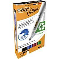 Bic Velleda 1701 ECOlutions Whiteboard Pens Med Bullet Tip- Ast Colours, PK 4