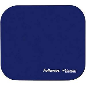 Tappetino per mouse Fellowes Microban, Gomma naturale, blu