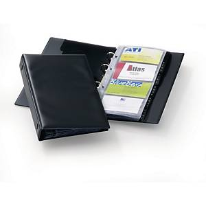 Durable Visifix business card folder for 96 cards black