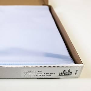 Lyreco L-mappen, A4, PP 11/100e, kristalhelder, per 100 zichtmappen