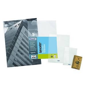 Buste a  U  Favorit PVC trasparente 22 x 30 cm lucide - conf. 25