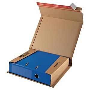 Krabice na pořadače ColomPac®, 320 x 290 x 35 až 80 mm, hnědá