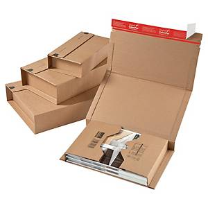 ColomPac® wikkelverpakking, cd s, bruin karton, 126 x 55 x 147 mm, per stuk