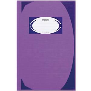 ตราช้าง สมุดบันทึกมุมมัน HC-105 210 X 320มม. 70 แกรม บรรจุ 100 สีม่วง
