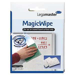 Effaceur Legamaster Magic Wipe, 15,4 x 11,5cm, paq. 2unités