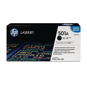 HP 501A Black Original Laserjet Toner Cartridge (Q6470A)