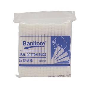 Banitore 便利妥 袋裝扭紋型棉花棒 80支裝