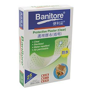 Banitore 便利妥 透明護理膠布 25片裝