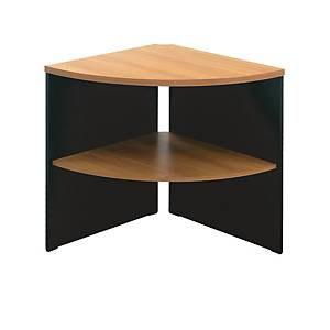 ITOKI FCSS60 CORNER TABLE 65X65X75 CM CHERRY/BLACK