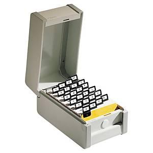 Boîte Rexel pour fiches 10,5 x 14,8 cm - grise