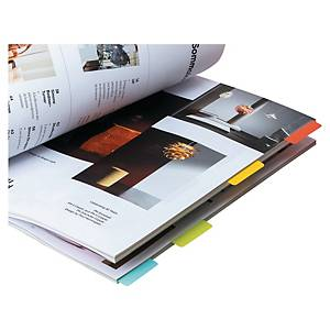 3L INDEX TABS REPOSITIONABLE 40MM ASSORTED COLOURS - PACK OF 48