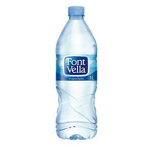 Pack de 15 garrafas de água Font Vella - 1 L