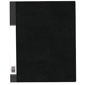 Data Base 3040 Refillable Clear Book 40 Pockets A4 Black