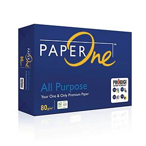PaperOne Letter Size All Purpose Paper 80gsm - Box of 5 Reams